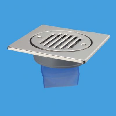 McAlpine Stainless Wet Room Shower Grating To Solvent Pipe - 39003214